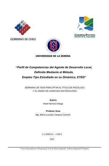 """""""Perfil de Competencias del Agente de Desarrollo Local, Definido ..."""