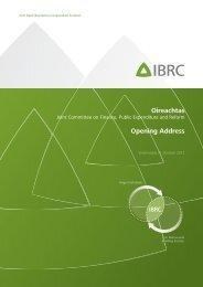 Oireachtas Opening Address - Irish Bank Resolution Corporation ...