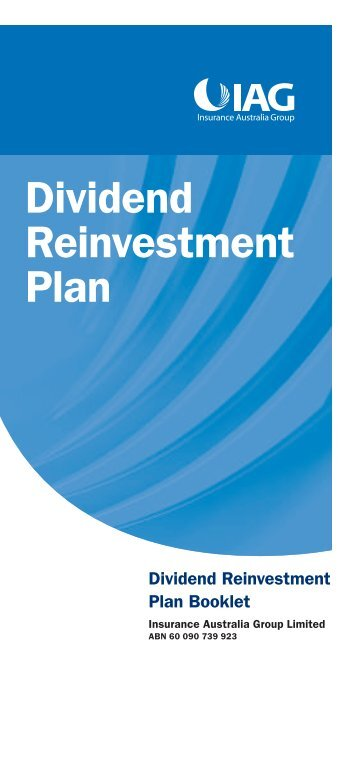 Dividend reinvestment plan booklet - IAG