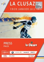 La Clusaz Cross-Country Skiing World Cup 2013 press book