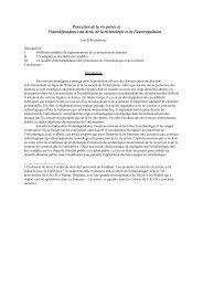 Protection de la vie privée et l'interdépendance du ... - Reidenberg