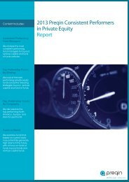 2013 Preqin Consistent Performers in Private Equity Report