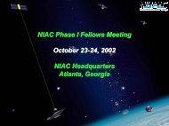 Dr. Robert Cassanova - NASA's Institute for Advanced Concepts ...
