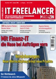 IT Freelancer Magazin Nr. 6/2007
