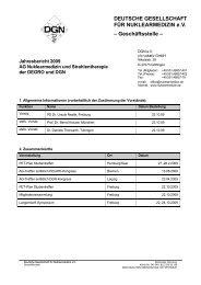 Jahresbericht 2009 - Deutsche Gesellschaft für Nuklearmedizin