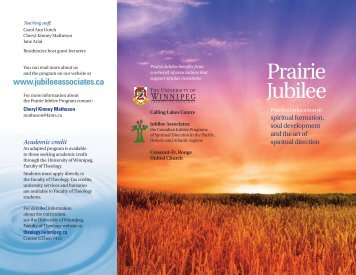 Prairie Jubilee - University of Winnipeg
