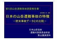 第5回山岳遭難事故調査報告書 - JMA 公益社団法人 日本山岳協会