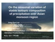 On the seasonal variation of stable isotopic composition of ...