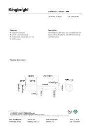 2.4mm FLAT TOP LED LAMP Features Description Package ...