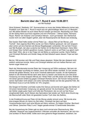 Bericht über die 7. Rund 6 vom 15.06.2011 - Yachthafen Trier