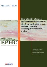 Bioavailability of Metals and Arsenic at Contaminated Sites from ...