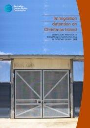 Immigration detention on Christmas Island - Australian Human ...