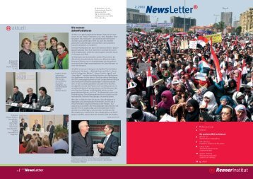 Download Newsletter 2-2011 (pdf, 860 KB) - Renner Institut
