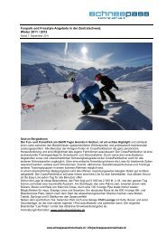 Fun und Freestyle-Angebote in der Zentralschweiz - Gotthard ...