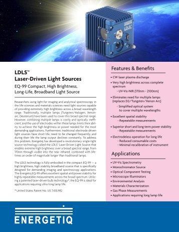 LDLS™ Laser-Driven Light Sources - Energetiq Technology, Inc.