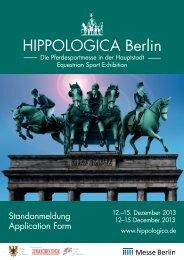 Standanmeldung 2013 - Hippologica