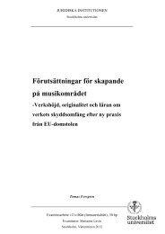6.2 Förutsättningar för skapande på musikområdet - Juridicum ...
