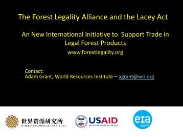 The Forest Legality Alliance - Wdscapps.caf.wvu.edu
