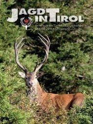 Zeitschrift des Tiroler Jägerverbandes Oktober 2013 • Jahrgang 65 ...