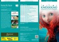 Kinderkino Flyer A4 Wickelfalz - Kommunales Kino Pforzheim