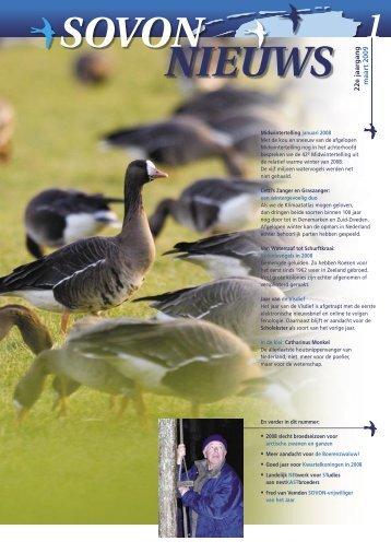 Sovon Nieuws 01-09 lr1.pdf - SOVON Vogelonderzoek Nederland