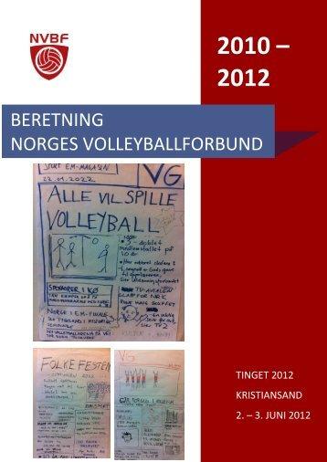 Beretning 2010-2012 - Norges Volleyballforbund