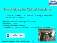 Microfluidics for Optical Switching - Caltech