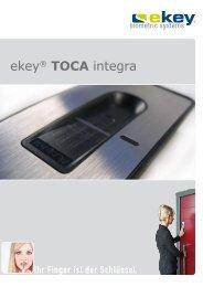 ekey® TOCA integra - alu-one Metallbaupartner GmbH