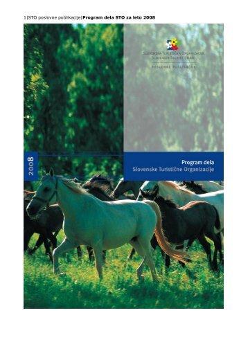 1 STO poslovne publikacije program dela STO za leto 2008