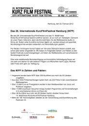 Das 28. Internationale KurzFilmFestival Hamburg (IKFF) Das IKFF in ...
