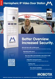 Better Overview. Increased Security. - Mobotix