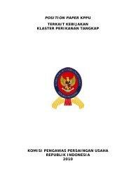 position paper kppu terkait kebijakan klaster perikanan tangkap