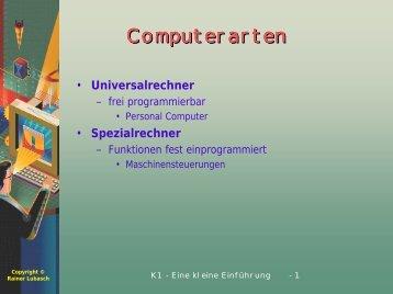 (K1). - Unterricht