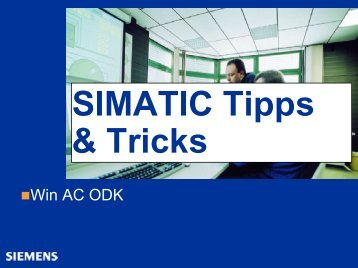 SIMATIC Tips & Tricks