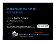 Teaching Johnny Not to Fall for Phish - Lorrie Faith Cranor