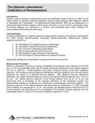 Calibration of Photodetectors - Instrumentation
