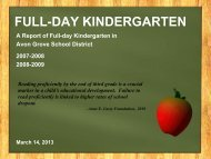 Full Day Kindergarten - Avon Grove School District