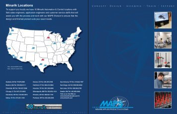 M.A.P.S. Brochure - Minarik Automation & Control Newsletter Index