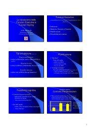 La valutazione delle Funzioni Esecutive e il Junior Hayling ... - Aidai