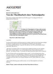 Von der Machbarkeit eines Nationalparks - Nationalpark Steigerwald