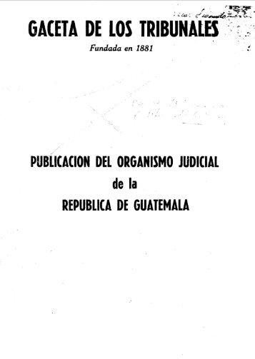 publicacion del organismo judicial republica de ... - Biblioteca OJ