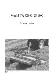 Model TA 339 C - 3310 C - Hjallerup Maskinforretning A/S