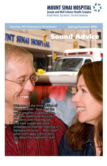 Hearing Aid Dispensary Newsletter - Spring/Summer 2006