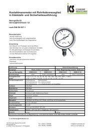 Technisches Datenblatt260.5 kB - ICS Schneider Messtechnik GmbH