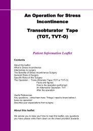 Transobturator Tape.pdf - East Cheshire NHS Trust