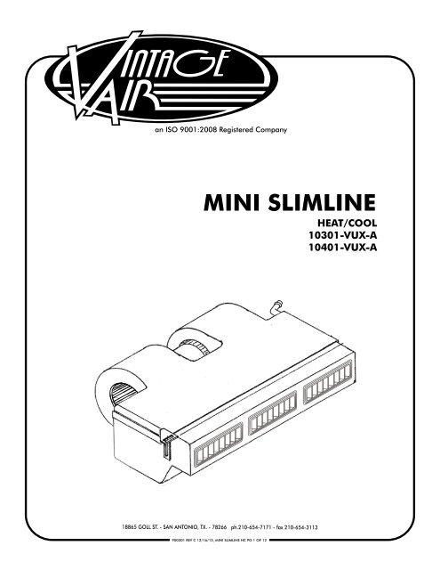 MINI SLIMLINE - Vintage Air on