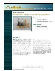 SERIES WTR/TLD/TSC TERMINATIONS, TUNABLE ... - Millitech