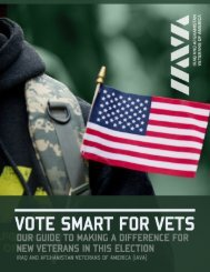 iava veteran voter guide 2012 - Iraq and Afghanistan Veterans of ...