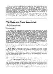 Vier Thesen zum Thema Gesamtschule - Schulformdebatte.de