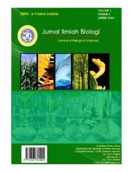 Jurnal Ilmiah Biologi Vol. 1 No.1 Desember 2012